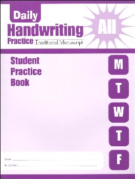 Daily Handwriting Practice Traditional Manuscript - Individual Student Workbook