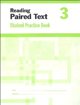 Reading Paired Text Grade 3 - Individual Student Workbook