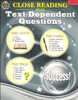 Close Reading with Text-Dependent Questions Grade 4