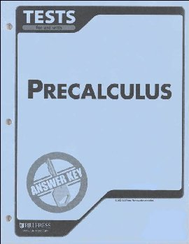 Precalculus Testpack Answer Key