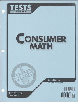Consumer Math Tests Answer Key 2ED