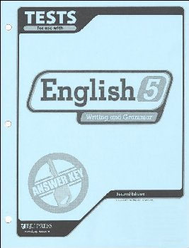 Writing/Grammar 5 Testpack Answer Key  2nd Edition