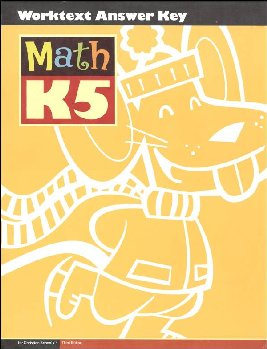 Math K5 Student Worktext Answer Key 3ed Edition