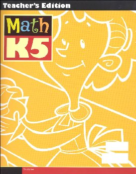 Math K5 Teacher Edition with CD 3rd Edition