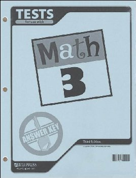 Math 3 Testpack Answer Key 3rd Edition
