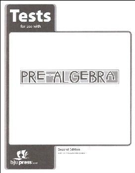 Pre-Algebra Tests 2nd Edition