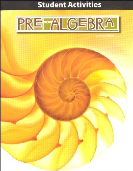 Pre-Algebra Student Activity 2nd Edition