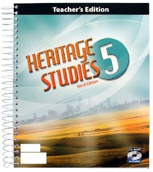 Heritage Studies 5 Home School Teacher Book & CD 3rd Edition