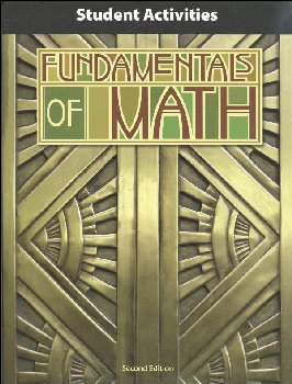Fundamentals of Math Student Activity Manual 2nd Edition