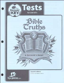 Bible Truths 2 Tests Answer Key 4th Edition