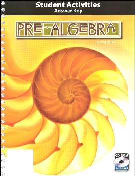 Pre-Algebra Activity Manual Key Book & CD 2ED