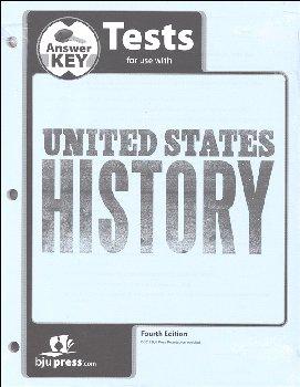 U.S. History Tests Answer Key 4th Edition