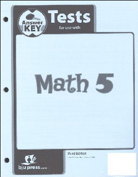 Math 5 Testpack Answer Key 3ED
