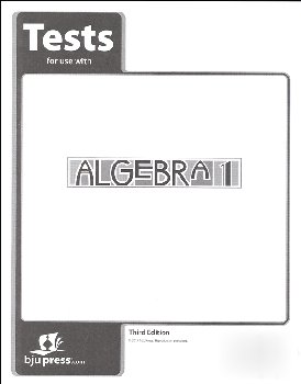 Algebra 1 Tests 3rd Edition