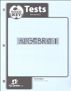 Algebra 1 Tests Answer Key 3rd Edition