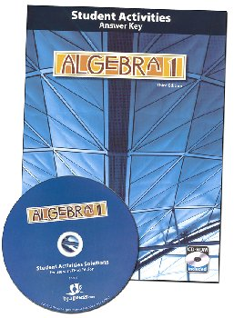 Algebra 1 Student Activities Teacher (Book & CD) 3rd Edition