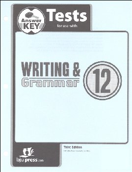 Writing/Grammar 12 Testpack Answer Key 3rd Edition