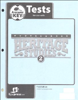 Heritage Studies 2 Tests Answer Key 3rd Edition