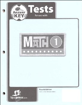 Math 1 Test Pack Answer Key 4th Edition
