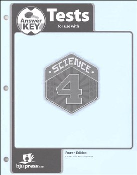 Science 4 Tests Answer Key 4th Edition