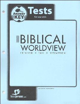 Biblical Worldview Tests Answer Key (KJV)