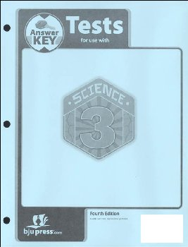 Science 3 Tests Answer Key 4th Edition
