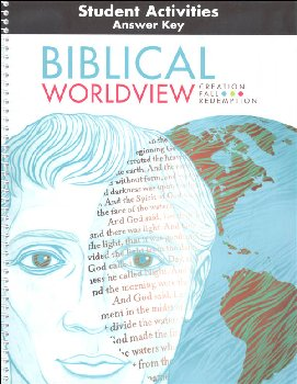 Biblical Worldview Std Acty Man'l Ans Key(ESV
