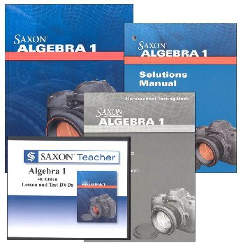 Algebra 1 4th Edition Saxon Home Study Kit + Saxon Teacher for Algebra 1 4 Edition on CD-ROM