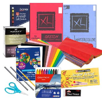 Artistic Pursuits Grades K-3 Book 1 (3rd Edition) Art Supply Bundle