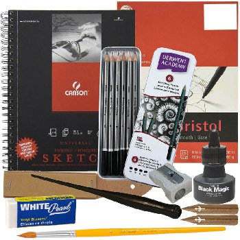 Artistic Pursuits Middle School Book 1 (3rd Edition) Art Supply Bundle
