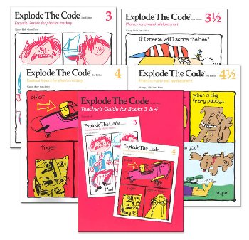 Explode the Code 3-4 (including 1/2s) with Teacher Guide (2nd Edition)