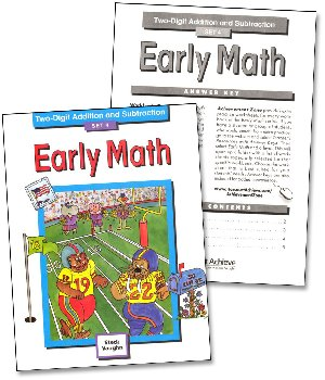 Early Math Set 4: 2-Digit Addition & Subtraction Workbook & Key