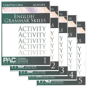 English Grammar Skills Activities Package (Chapters 1-5)
