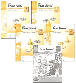 Key to Fractions complete set workbooks + key