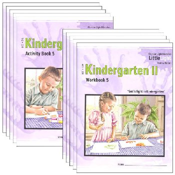 Kindergarten II LittleLight Activity Book & Workbook Set (no Tchr)