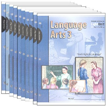 Language Arts LightUnit 301-310 Answer Key Set Sunrise 2nd Edition