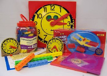 Manipulative Kit 1 (Wooden Pattern Block Upgrade, Judy Clock, Optional Items)