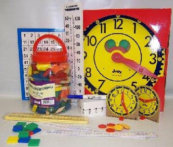 Manipulative Kit 3 (Wooden Pattern Block Upgrade, Judy Clock, Optional Items)