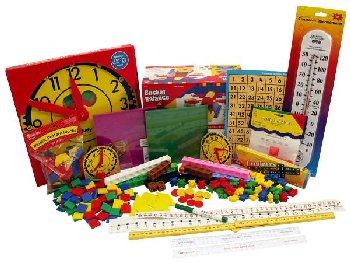 Manipulative Kit K-3 (Basic Plastic Pattern Blocks, Judy Clock, Optional Items)