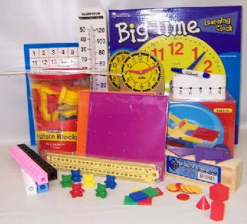 Manipulative Kit K-3 (Plastic Pattern Block Upgrade, Optional Items)