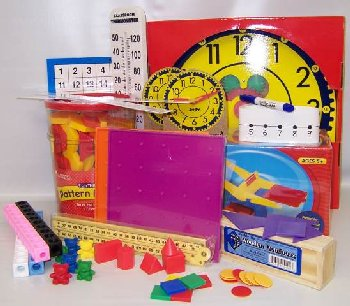 Manipulative Kit K-3 (Plastic Pattern Block Upgrade,Judy Clock, Optional Items)