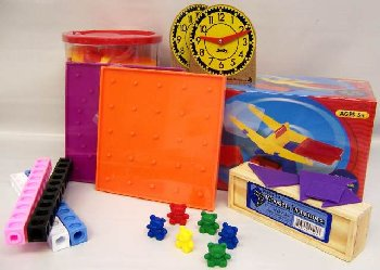 Manipulative Kit K (Plastic Pattern Block Upgrade, NO Optional Items)