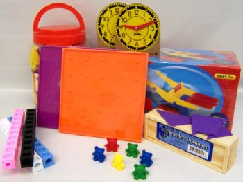 Manipulative Kit K (Wooden Pattern Block Upgrade, NO Optional Items)