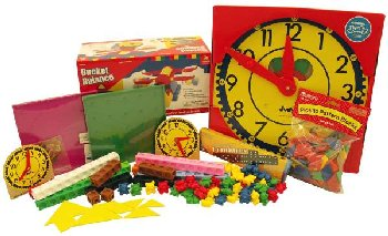 Manipulative Kit K (Basic Plastic Pattern Blocks, Judy Clock, Optional Items)