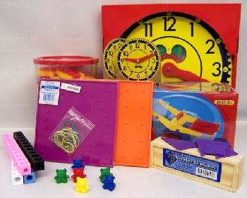 Manipulative Kit K (Plastic Pattern Block Upgrade, Judy Clock, Optional Items)