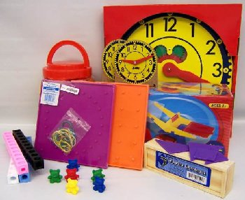 Manipulative Kit K (Wooden Pattern Block Upgrade, Judy Clock, Optional Items)