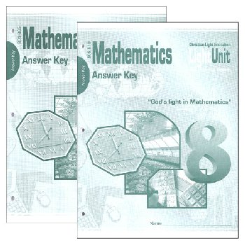 Mathematics LightUnit 801-810 Answer Key Set Sunrise Edition