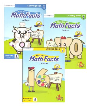 Meet the Math Facts Addtn Coloring Book Pack