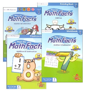 Meet the Math Facts +/- Level 1 Package