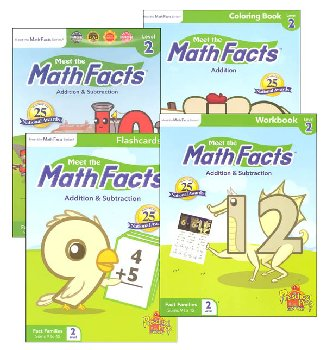 Meet the Math Facts +/- Level 2 Package